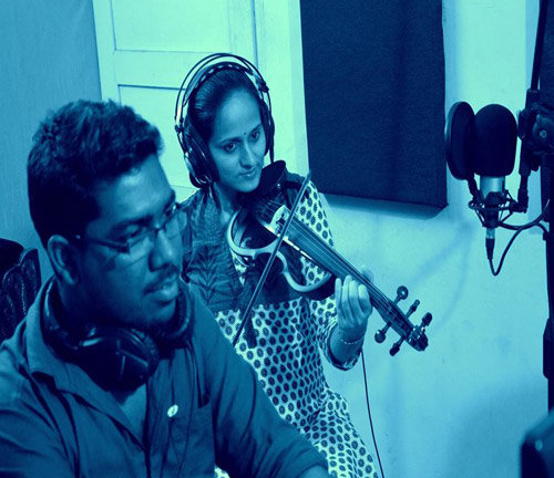 Roopa Revathi Violin Recording Session