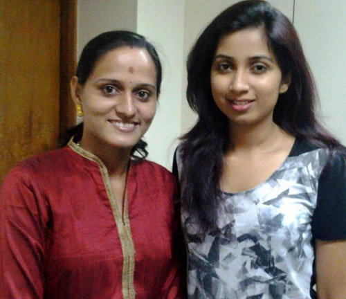 Roopa Revathi and Shreya Ghoshal