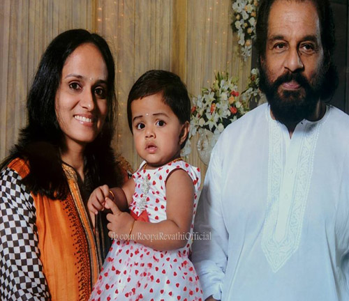 Roopa Revathi and Sivaradhya with K J Yesudas